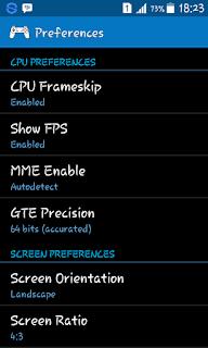 Konfigurasi Fps 60 Emulator ePSXe For Android