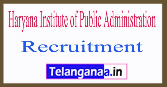 Haryana Institute of Public Administration HIPA Recruitment Notification 2017