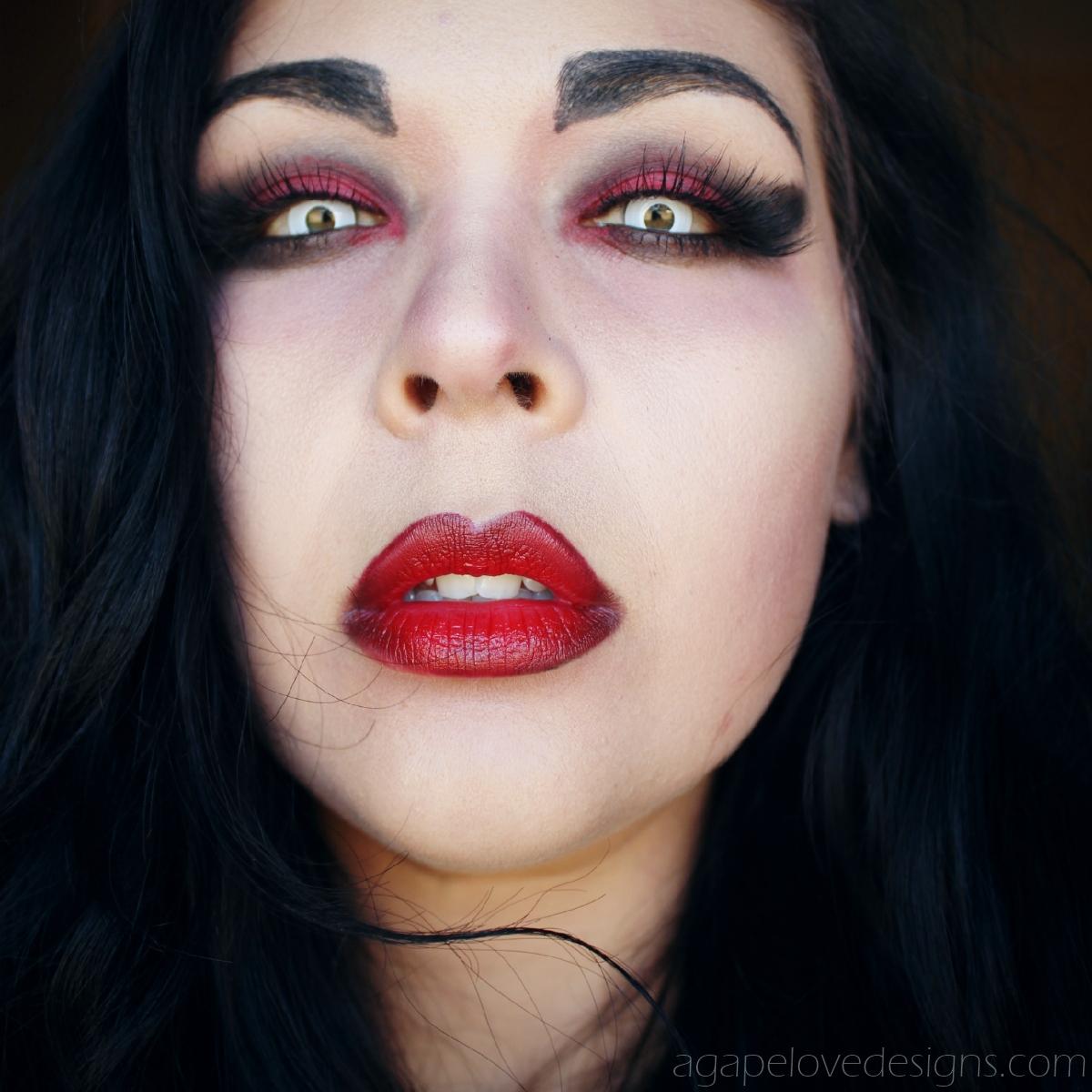 Vampire eye makeup