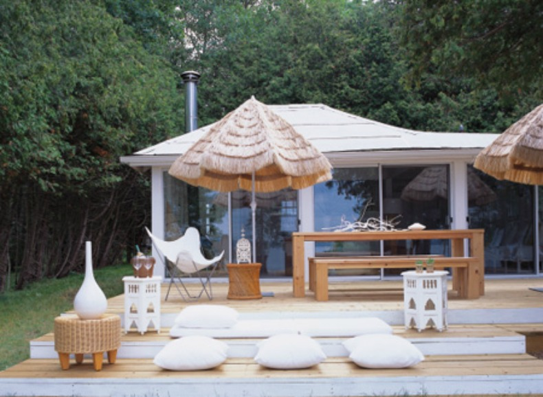 coastal bohemian outdoor space