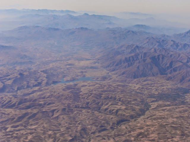 Vista desde el avión, llegando de Dubai para llegar a Melbourne