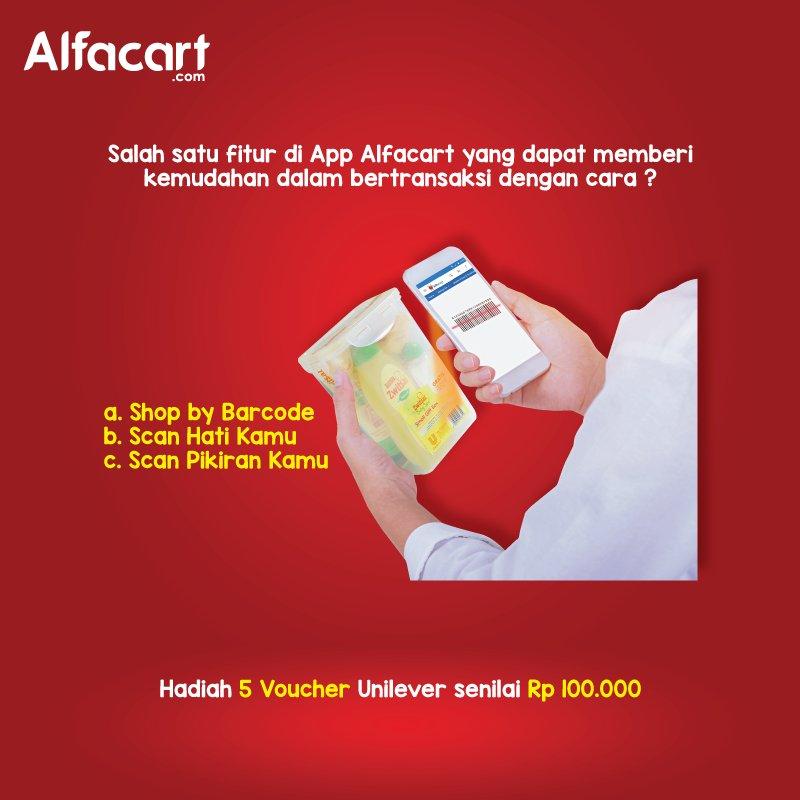 Alfacart - Promo Kuis Tebak Berhadiah Voucher @100 Ribu Untuk 5 Orang