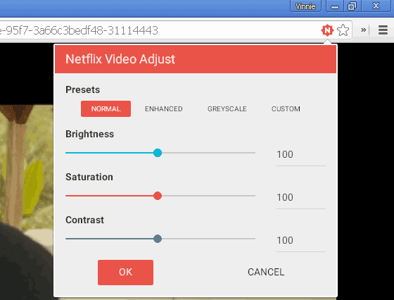 Netflix Video Adjust estensione Chrome per Netflix.