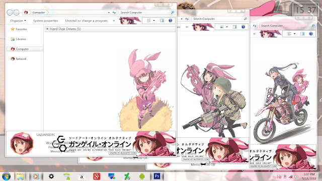 Sowrd Art Online Alternative: Gun Gale Online Theme Win 7 by Enji Riz Lazuardi