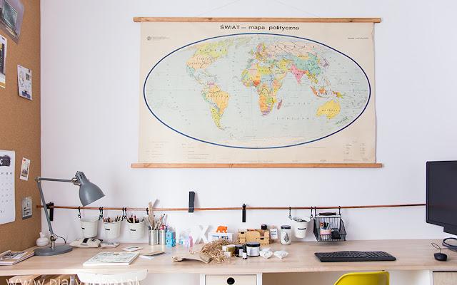Stara szkolna mapa - jak ją zdobyć, oprawić, wyeksponować - CZYTAJ DALEJ