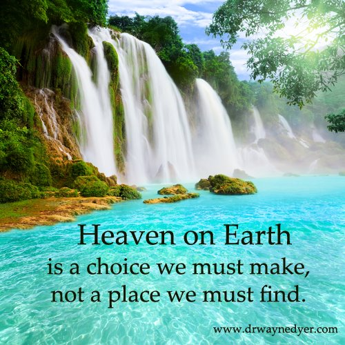 Heaven is your choice...