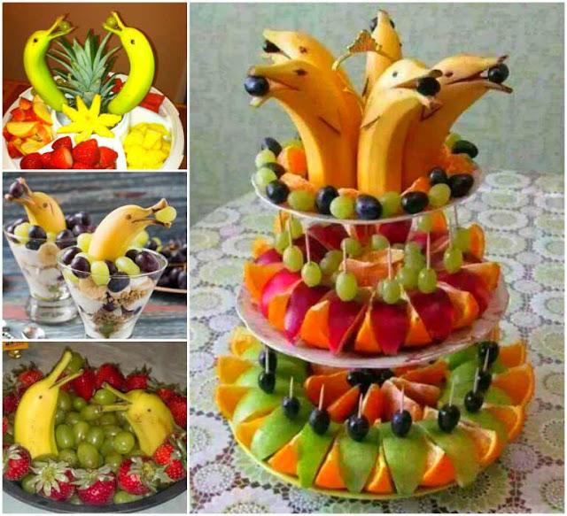 как украсить фруктовый стол