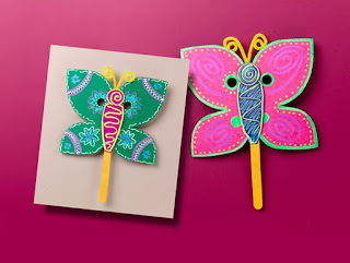 Máscaras de mariposa, manualidades primavera