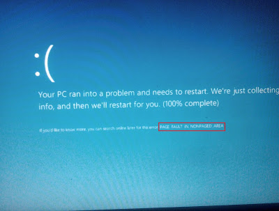 Cara Mengatasi Windows Blue Screen Page Fault in Nonpaged Area