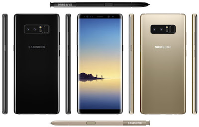 Samsung Galaxy Note8 Press image leaked in Midnight Black and Gold color