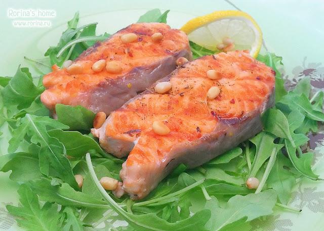 Лосось на гриль-сковороде: пошаговый рецепт