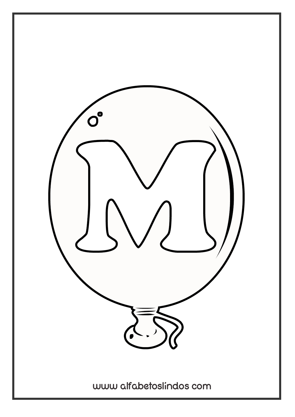 atividades para baixar alfabeto balões de aniversário para imprimir