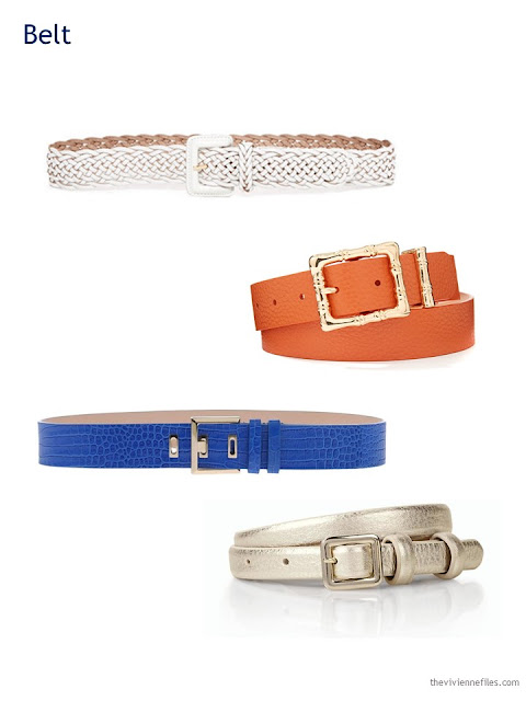 A Capsule Wardrobe in Beige, Bright Blue and Orange: Expanding Your Accessories - belts