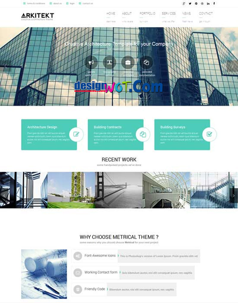 ARKITEKT Responsive HTML WordPress Template