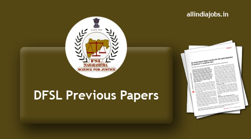 DFSL Assistant Chemical Analyst Previous Papers PDF Download ...