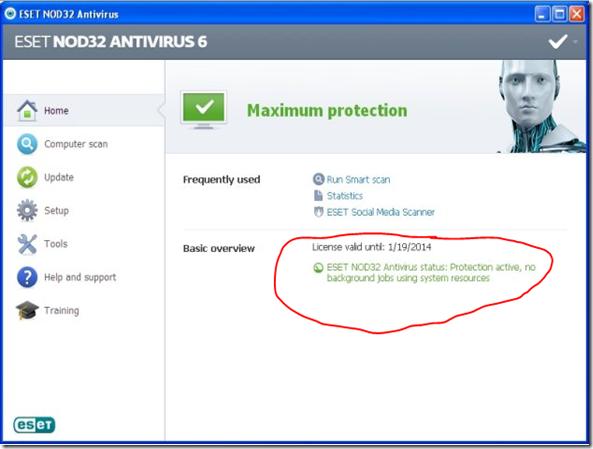 Eset NOD Antivirus Serial Key Free Download