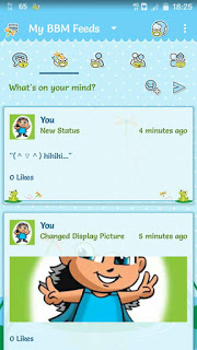 BBM Froggy MOD APK v3.0.1.25 Terbaru BBM Full DP(BBM Background Lucu)