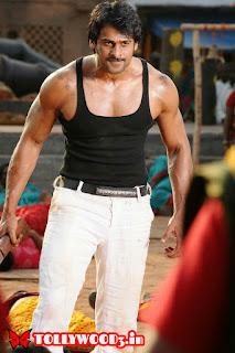 Prabhas six pack body in rebel movie