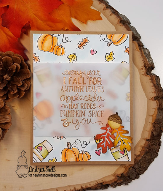 Every Year I Fall for Autumn Leaves by Andrea features Fall-ing for You and Autumn Leaves by Newton's Nook Designs; #newtonsnook