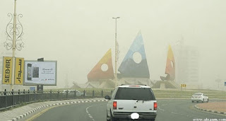 هيئة الهلال الأحمر السعودي بالمنطقة الشرقية تحذر المواطنيين من الغبار اليوم