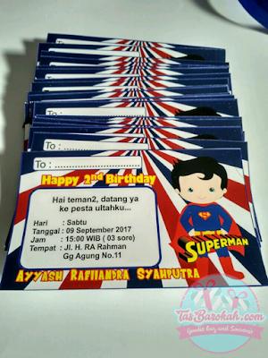 UNDANGAN ULANG TAHUN ANAK KARAKTER SUPERMAN