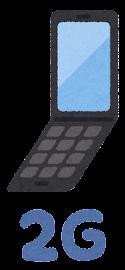 移動通信システムのイラストマーク(2G)