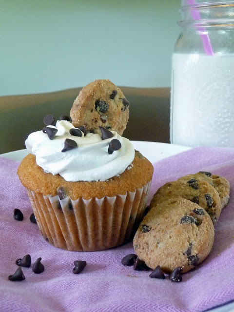 Chocolate Chip Cookie Cupcakes | by Life Tastes Good