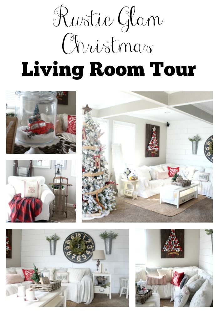 Rustic Glam Living Room rustic glam christmas living room tour - the glam farmhouse