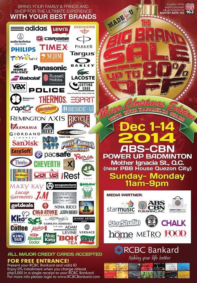 e23a0604a74e7f The Big Brand Sale Mega Christmas Edition is happening this December! Head  on over to ABS CBN Power Up Badminton Center for up to 80% off on brands  such as ...