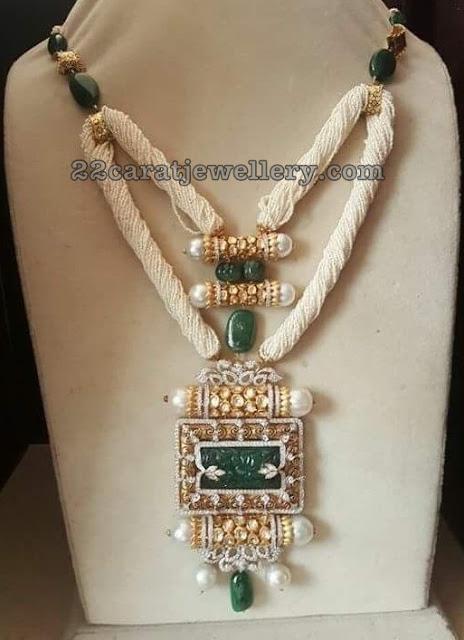 Emerald Drops Chain with Victorian Pendant