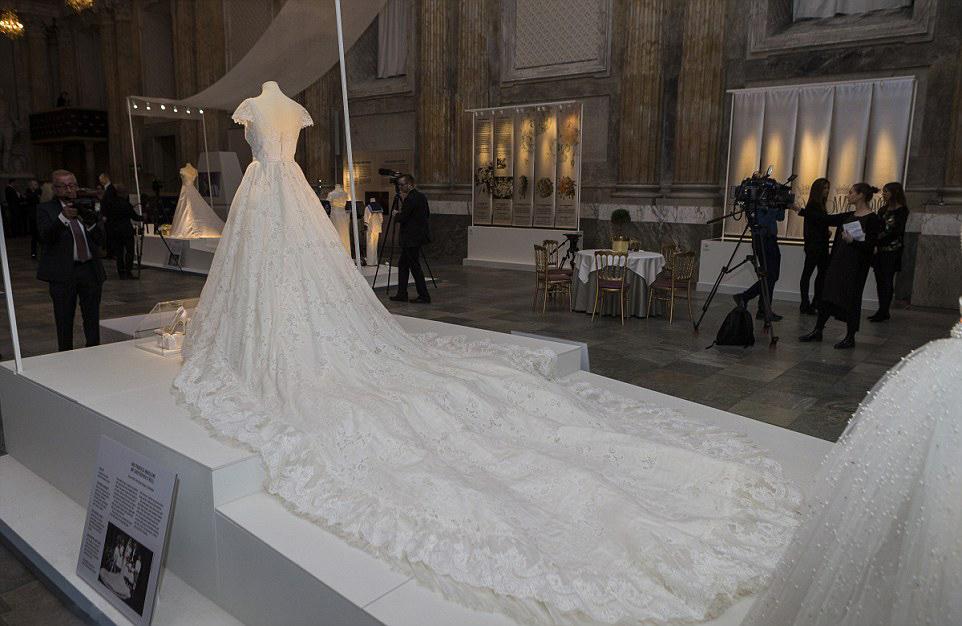 Swedish Royal Wedding Dresses Exhibition At Palace On October 17 2016 In Stockholm Sweden