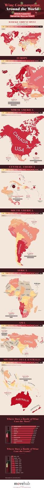 Los países con más consumidores de vino