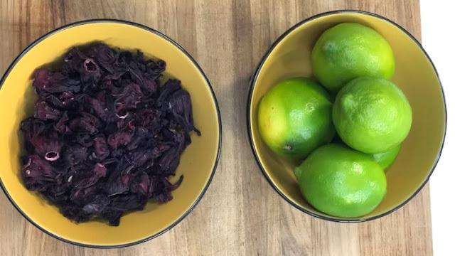 limón y flor de Jamaica para bajar de peso