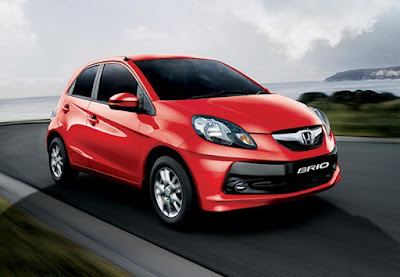 Honda Brio Red hd image