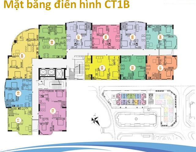 Mặt bằng CT1B- Khu đô thị Nghĩa Đô