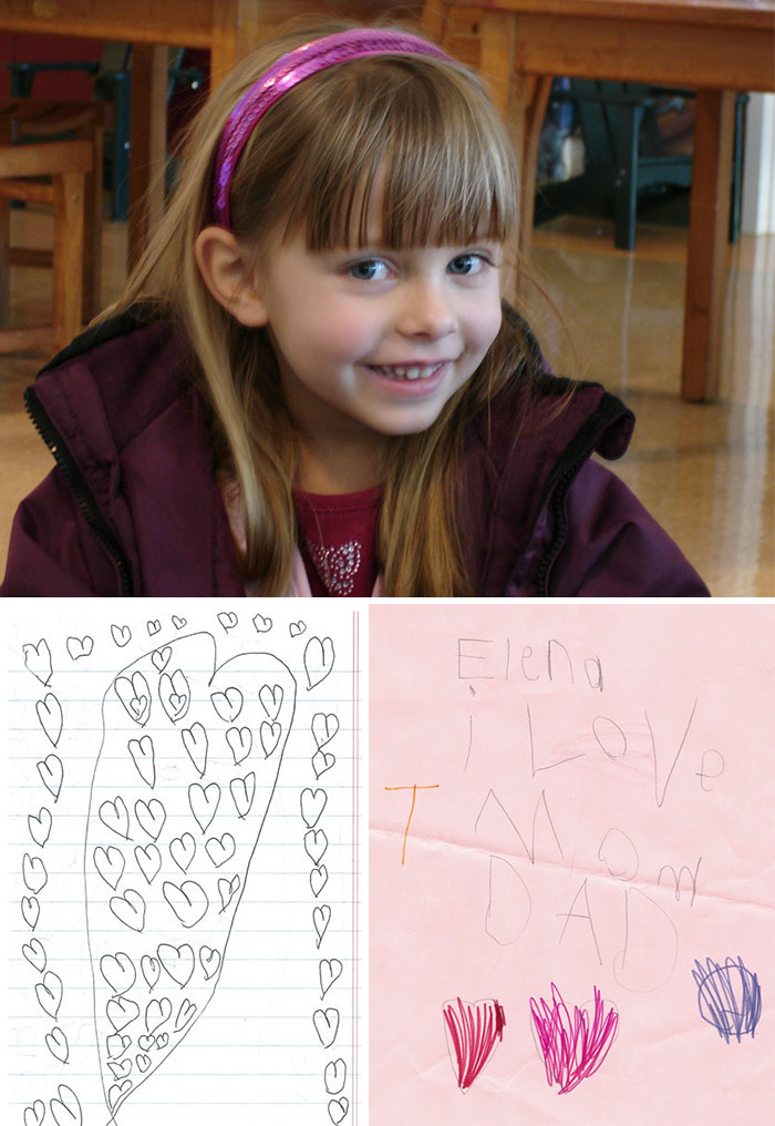 36 People's Heart-Breaking Last Wishes - When 6-Year-Old Elena Was Diagnosed With Brain Cancer, She Started Writing Countless Little Love Notes For Her Parents To Find After She Was Gone