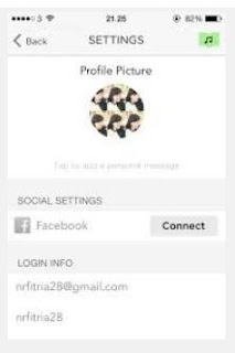 mengatur profile aplikasi smule