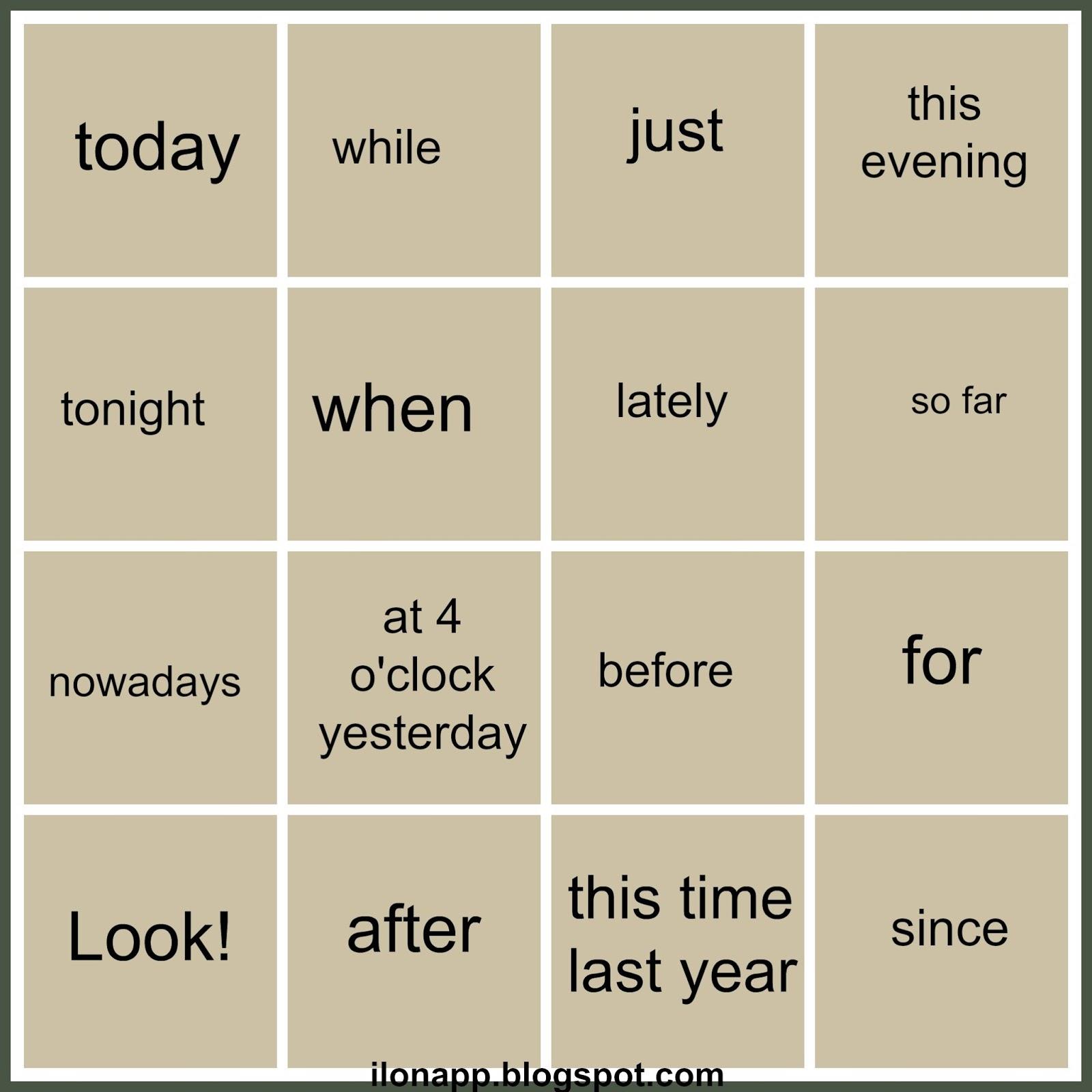 Building Sentences Present Simple Present Continuous Past