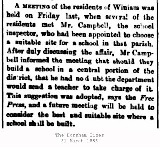 The Horsham Times, Winiam State School
