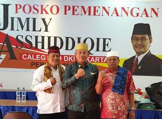 Ketua DPC BPPKB Banten Jakarta Barat Berikan Dukungan H.Jimly Asshiddiqie Maju DPD RI
