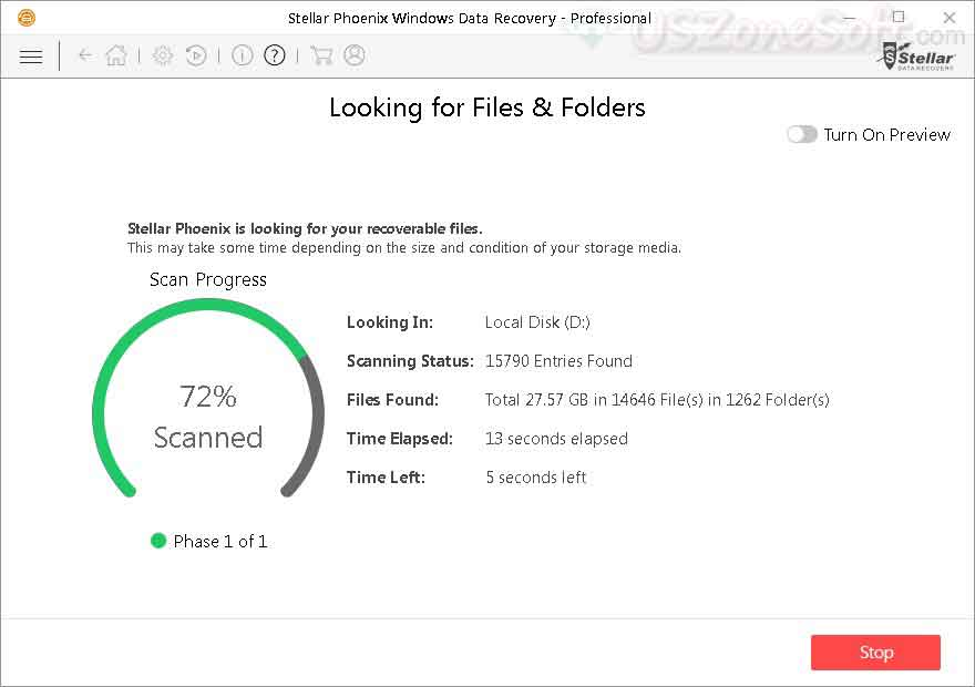 Stellar Phoenix Windows Data Recovery- screen 6