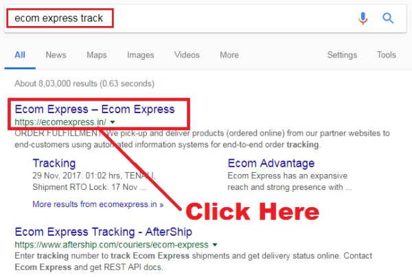 how to track ecom express courier online