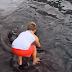 niño se lleva el susto de su vida al encontrarse con un animal marino gigante