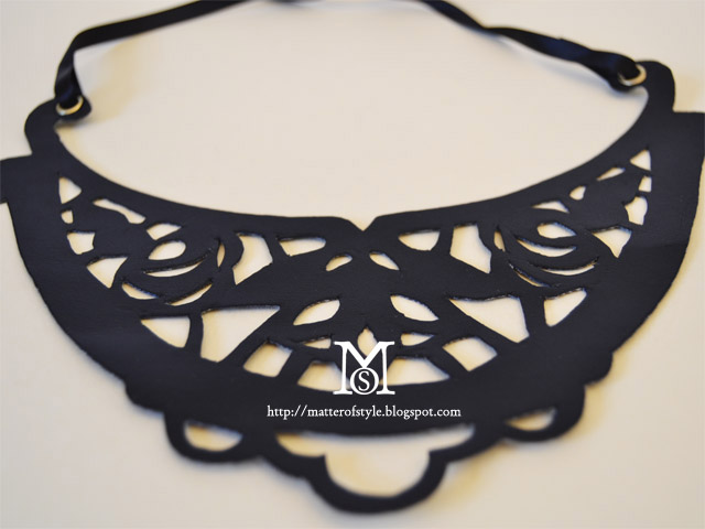 laser cut necklace, diy, fashion diy, leather necklace, cut out necklace, free pattern, download, style.it, intaglio, embroidery
