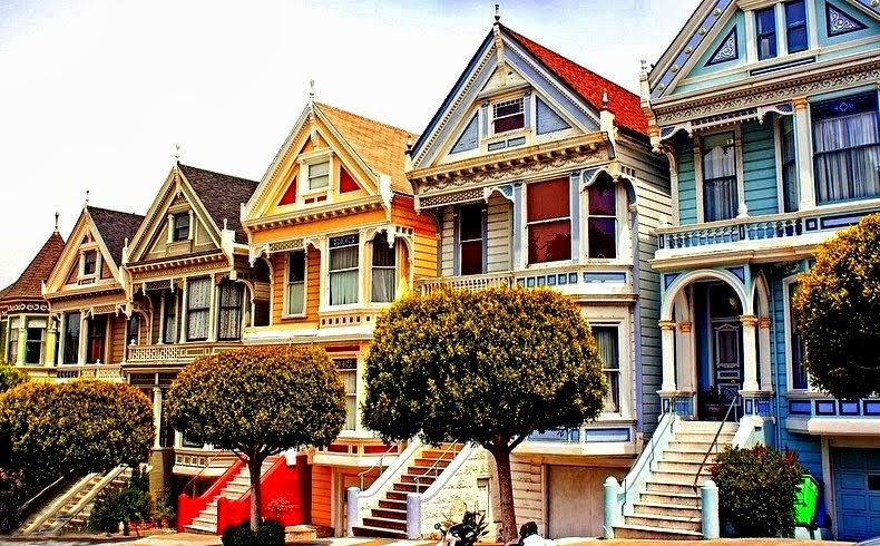 art now and then the painted ladies of san francisco. Black Bedroom Furniture Sets. Home Design Ideas