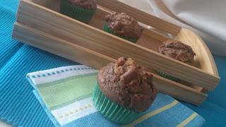 Muffins de higos y nueces al cacao chocolate desayuno merienda postre magdalenas receta casera tradicional sencilla Cuca