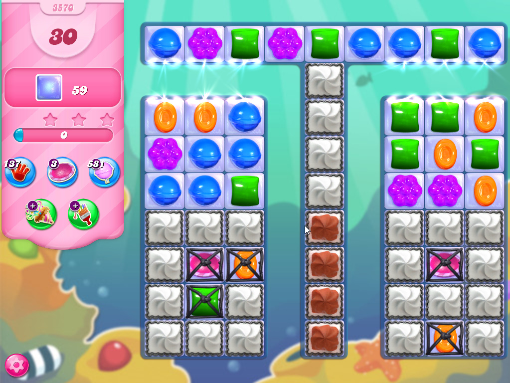 Candy Crush Saga level 3570