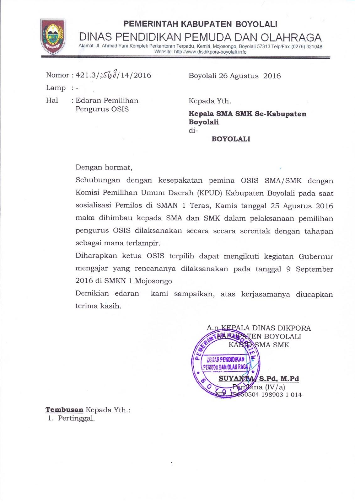 Info Sma Smk Kabupaten Boyolali Eadaran Pemilihan Pengurus Osis
