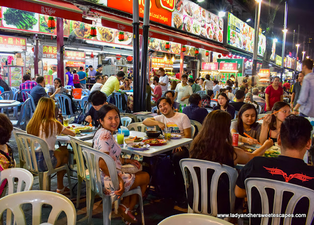 streetfood dinner in Jalan Alor