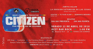 Concierto de CITIZEN en Bogotá